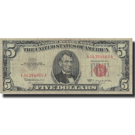 Banknote, United States, Five Dollars, 1963, 1963, KM:1650, VF(20-25)