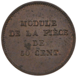Coin, France, 50 Centimes, MS(60-62), Gadoury:409