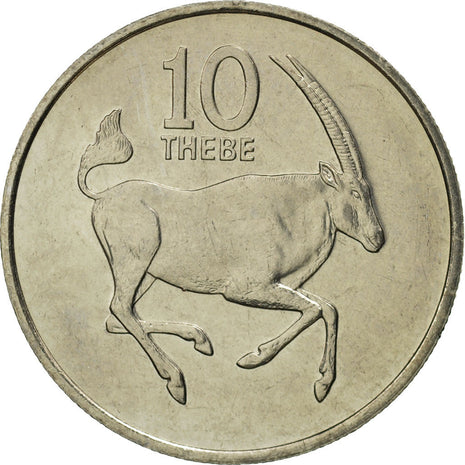 Botswana, 10 Thebe, 1984, British Royal Mint, MS(65-70), Copper-nickel, KM:5