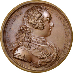 France, Medal, Louis XIV, Politics, Society, War, 1724, Duvivier, MS(60-62)