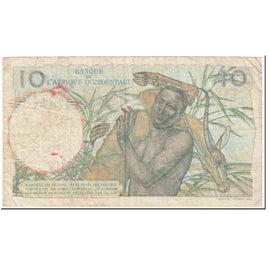 Banknote, French West Africa, 10 Francs, 1952, 1952-12-19, KM:37, VF(20-25)