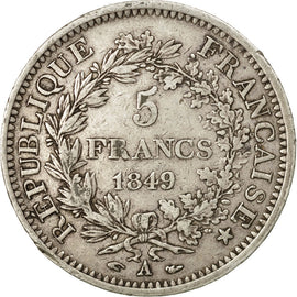 Coin, France, Hercule, 5 Francs, 1849, Paris, EF(40-45), Silver, KM:756.1