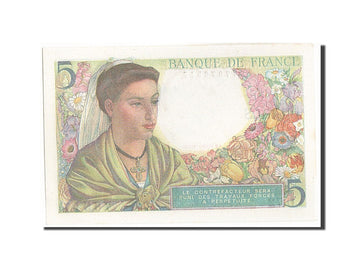 Banknote, France, 5 Francs, 5 F 1943-1947 ''Berger'', 1943, 1943-08-05, UNC(64)