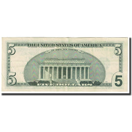 Banknote, United States, Five Dollars, 2001, KM:4597, AU(55-58)