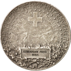 Switzerland, Token, 1954, AU(50-53), Silver