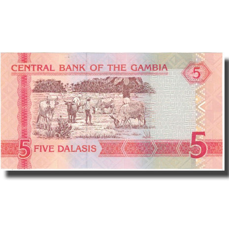 Banknote, The Gambia, 5 Dalasis, Undated (2001), KM:20b, UNC(64)