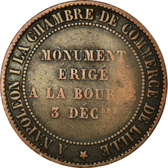 Coin, France, 10 Centimes, 1854, Lille, VF(30-35), Bronze, KM:M25, Gadoury:251