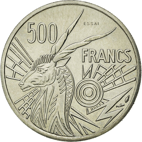 Coin, Central African States, 500 Francs, 1976, Paris, MS(65-70), Nickel, KM:E9