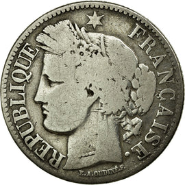 Coin, France, Cérès, 2 Francs, 1851, Paris, VG(8-10), Silver, KM:760.1
