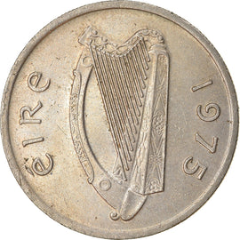 Coin, IRELAND REPUBLIC, 5 Pence, 1975, EF(40-45), Copper-nickel, KM:22