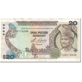 Banknote, Malaysia, 20 Ringgit, 1982, Undated (1982), KM:22, EF(40-45)