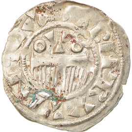 Coin, France, Champagne, Thibaut II, Denarius, Provins, EF(40-45), Silver