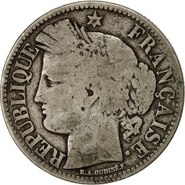 Coin, France, Cérès, 2 Francs, 1851, Paris, VF(20-25), Silver, KM:760.1
