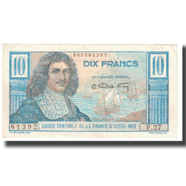 Banknote, French Equatorial Africa, 10 Francs, KM:21, EF(40-45)