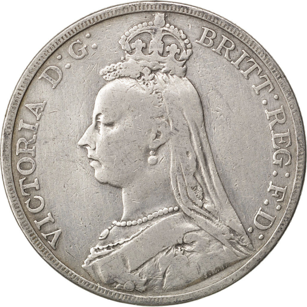 GREAT BRITAIN, Crown, 1892, KM #765, VF(30-35), Silver, 38.61, 27.81
