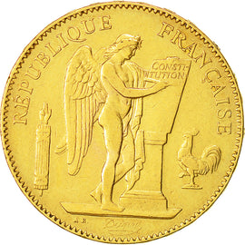 Coin, France, Génie, 50 Francs, 1878, Paris, AU(50-53), Gold, KM:831