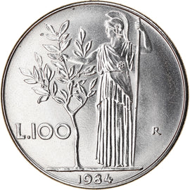 Coin, Italy, 100 Lire, 1984, Rome, MS(65-70), Stainless Steel, KM:96.1