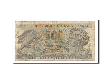 Banknote, Italy, 500 Lire, 1967, 1967-10-20, VF(20-25)