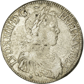 Coin, France, Louis XIV, Écu à la mèche longue, Ecu, 1653, Toulouse