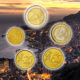 Monaco, 10 Cents to 2 Euro, 2002, MS(63), 0.00