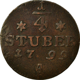 Coin, German States, 1/4 Stüber, 1799, VF(30-35), Copper