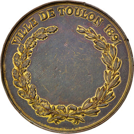 FRANCE, Shipping, French Third Republic, Medal, 1891, AU(50-53), Copper, 41,...