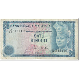 Banknote, Malaysia, 1 Ringgit, 1967-72, UNDATED (1967-72), KM:1a, VF(20-25)