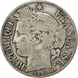 Coin, France, Cérès, Franc, 1871, Bordeaux, VF(20-25), Silver, KM:822.2