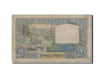 France, 20 Francs Science et Travail, 1941-12-04, KM:92b, Fayette:12.20, F(12-15