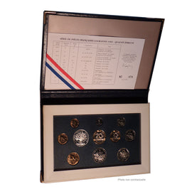 Coin, France, Proof Set Franc, 1993, Paris, MS(65-70), Gadoury:page 289