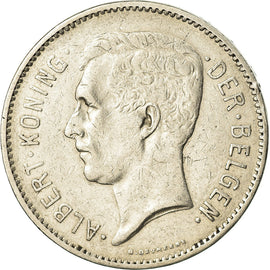 Coin, Belgium, 5 Francs, 5 Frank, 1933, EF(40-45), Nickel, KM:98