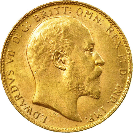 Coin, Australia, Edward VII, Sovereign, 1906, Perth, AU(55-58), Gold, KM:15