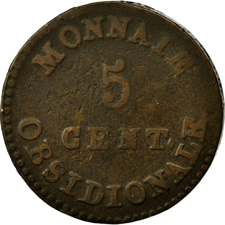 Coin, France, 5 Centimes, 1814, Anvers, VF(20-25), Bronze, Gadoury:129d
