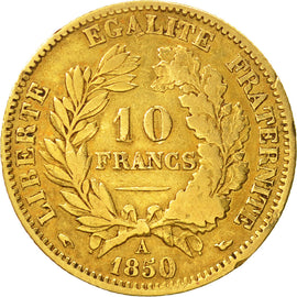 Coin, France, Cérès, 10 Francs, 1850, Paris, VF(30-35), Gold, KM:770
