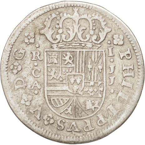 SPAIN, Real, 1719, Cuenca, KM #306.1, EF(40-45), Silver, 2.81