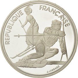 Coin, France, 100 Francs Olympics, 1990, MS(65-70), Silver, KM 984