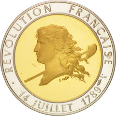 France, French Revolution Bicentenary, History, Medal, 1989, AU(55-58), Silver