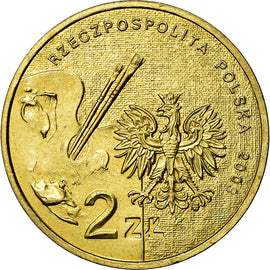 Coin, Poland, 2 Zlote, 2003, Warsaw, MS(60-62), Brass, KM:477