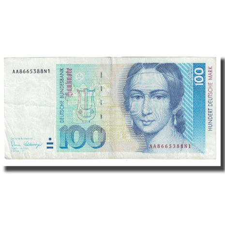 Banknote, GERMANY - FEDERAL REPUBLIC, 100 Deutsche Mark, 1989, 1989-01-02