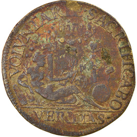 France, Token, Royal, Charles IX, Piété et Justice, VF(30-35), Brass
