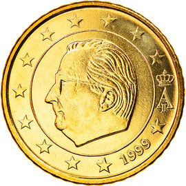 Belgium, 50 Euro Cent, 1999, Brussels, MS(63), Brass, KM:229