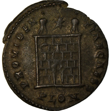 Coin, Constance II, Nummus, 324-325, London, Very rare, AU(55-58), Copper