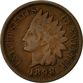 Coin, United States, Indian Head Cent, 1898, KM 90a