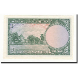Banknote, South Viet Nam, 1 D<ox>ng, 1956, KM:1a, UNC(65-70)