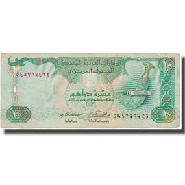 Banknote, United Arab Emirates, 10 Dirhams, 2001, 2001, KM:20b, VF(20-25)