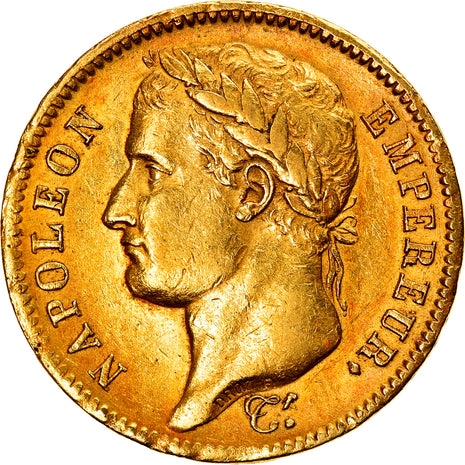 Coin, France, Napoléon I, 40 Francs, 1812, Paris, EF(40-45), Gold, KM:696.1