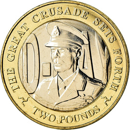 Coin, Isle of Man, 2 Pounds, 2019, Pobjoy Mint, D-Day - George VI, MS(63)