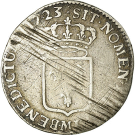 Coin, France, 1/3 Ecu, 1723, Toulouse, VF(20-25), Silver, KM:457.13, Gadoury:306