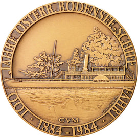 Germany, Alberg Railway 100th anniversary, Medal, 1984, MS(63), Bronze, 50mm