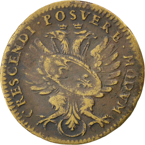 France, Royal, Token, VF(30-35), Copper, 25, 4.90